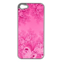 Soft Pink Frost Of Morning Fractal Apple Iphone 5 Case (silver) by Artist4God