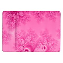 Soft Pink Frost Of Morning Fractal Samsung Galaxy Tab 10 1  P7500 Flip Case by Artist4God