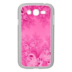 Soft Pink Frost Of Morning Fractal Samsung Galaxy Grand Duos I9082 Case (white) by Artist4God