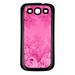Soft Pink Frost Of Morning Fractal Samsung Galaxy S3 Back Case (black)