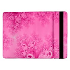 Soft Pink Frost Of Morning Fractal Samsung Galaxy Tab Pro 12 2  Flip Case