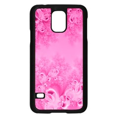 Soft Pink Frost Of Morning Fractal Samsung Galaxy S5 Case (black) by Artist4God