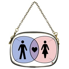 Boy + Girl = Heart Chain Purse (two Sided)