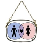 Boy + Girl = Heart Chain Purse (Two Sided)  Front