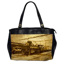 Retro Rails Oversize Office Handbag (two Sides)