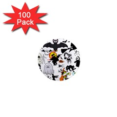 Halloween Mashup 1  Mini Button Magnet (100 Pack) by StuffOrSomething