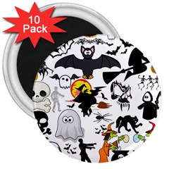 Halloween Mashup 3  Button Magnet (10 Pack) by StuffOrSomething