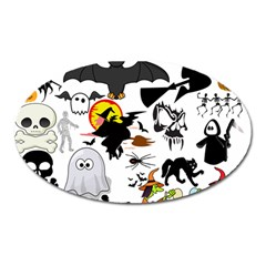 Halloween Mashup Magnet (oval) by StuffOrSomething