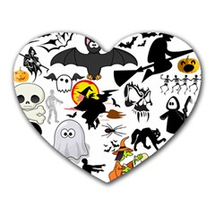 Halloween Mashup Mouse Pad (heart) by StuffOrSomething
