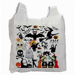 Halloween Mashup White Reusable Bag (two Sides) by StuffOrSomething