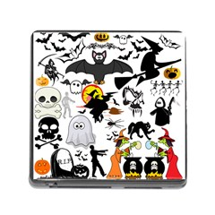 Halloween Mashup Memory Card Reader With Storage (square) by StuffOrSomething