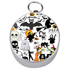 Halloween Mashup Silver Compass by StuffOrSomething