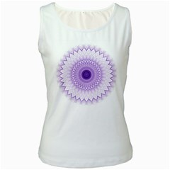 Mandala Women s Tank Top (white) by Siebenhuehner