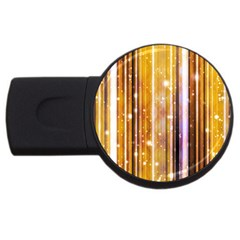 Luxury Party Dreams Futuristic Abstract Design 2gb Usb Flash Drive (round) by dflcprints