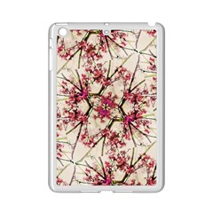Red Deco Geometric Nature Collage Floral Motif Apple Ipad Mini 2 Case (white) by dflcprints