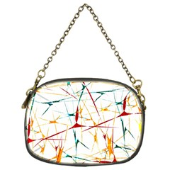 Colorful Splatter Abstract Shapes Chain Purse (two Sided)  by dflcprints