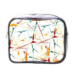 Colorful Splatter Abstract Shapes Mini Travel Toiletry Bag (one Side) by dflcprints