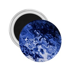 Blue Waves Abstract Art 2 25  Button Magnet