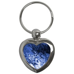 Blue Waves Abstract Art Key Chain (heart) by LokisStuffnMore