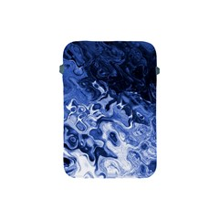Blue Waves Abstract Art Apple Ipad Mini Protective Sleeve by LokisStuffnMore