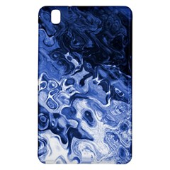 Blue Waves Abstract Art Samsung Galaxy Tab Pro 8 4 Hardshell Case by LokisStuffnMore