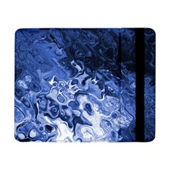 Blue Waves Abstract Art Samsung Galaxy Tab Pro 8 4  Flip Case by LokisStuffnMore