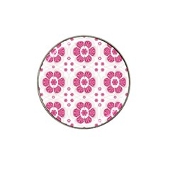 Sweety Pink Floral Pattern Golf Ball Marker (for Hat Clip) by dflcprints