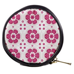 Sweety Pink Floral Pattern Mini Makeup Case by dflcprints