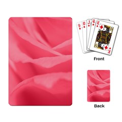 Pink Silk Effect  Playing Cards Single Design by Colorfulart23