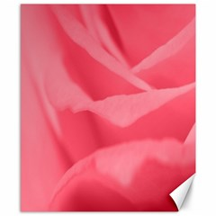 Pink Silk Effect  Canvas 8  X 10  (unframed) by Colorfulart23