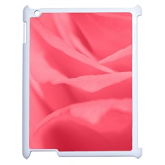 Pink Silk Effect  Apple Ipad 2 Case (white) by Colorfulart23