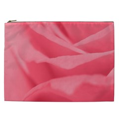 Pink Silk Effect  Cosmetic Bag (xxl) by Colorfulart23