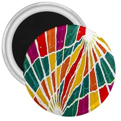 Multicolored Vibrations 3  Button Magnet by dflcprints