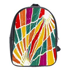 Multicolored Vibrations School Bag (large) by dflcprints