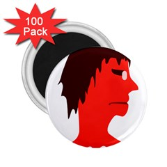 Monster With Men Head Illustration 2 25  Button Magnet (100 Pack)