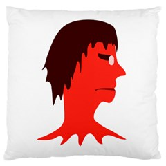 Monster With Men Head Illustration Large Cushion Case (single Sided)  by dflcprints