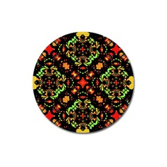 Intense Floral Refined Art Print Magnet 3  (round) by dflcprints