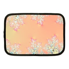 Peach Spring Frost On Flowers Fractal Netbook Sleeve (medium) by Artist4God