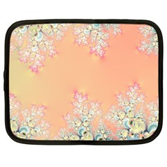 Peach Spring Frost On Flowers Fractal Netbook Sleeve (xl) by Artist4God