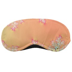 Peach Spring Frost On Flowers Fractal Sleeping Mask by Artist4God