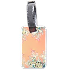 Peach Spring Frost On Flowers Fractal Luggage Tag (one Side) by Artist4God
