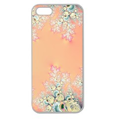 Peach Spring Frost On Flowers Fractal Apple Seamless Iphone 5 Case (clear) by Artist4God