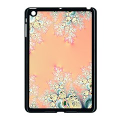 Peach Spring Frost On Flowers Fractal Apple Ipad Mini Case (black) by Artist4God