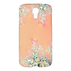 Peach Spring Frost On Flowers Fractal Samsung Galaxy S4 I9500/i9505 Hardshell Case by Artist4God