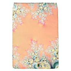Peach Spring Frost On Flowers Fractal Removable Flap Cover (large) by Artist4God