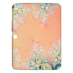Peach Spring Frost On Flowers Fractal Samsung Galaxy Tab 3 (10 1 ) P5200 Hardshell Case  by Artist4God