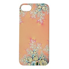 Peach Spring Frost On Flowers Fractal Apple Iphone 5s Hardshell Case by Artist4God