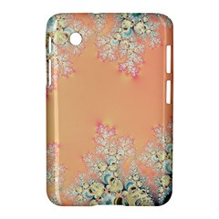 Peach Spring Frost On Flowers Fractal Samsung Galaxy Tab 2 (7 ) P3100 Hardshell Case
