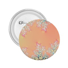 Peach Spring Frost On Flowers Fractal 2 25  Button by Artist4God