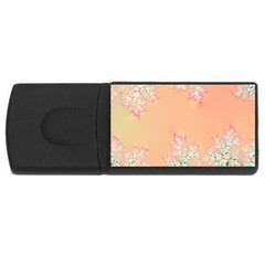 Peach Spring Frost On Flowers Fractal 4gb Usb Flash Drive (rectangle) by Artist4God